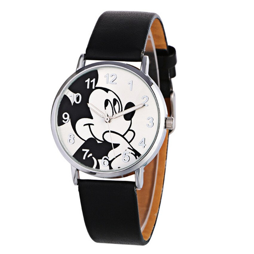 2021 Anime Cartoon Mickey Watch For Women Cute Boy Girl Like Sports Watch Five Colors Leather Women Quartz Watches Reloj Mujer