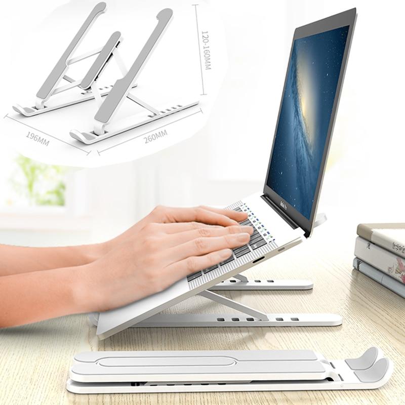 قابل للتعديل طوي محمول حامل عدم الانزلاق سطح المكتب حامل أجهزة الكمبيوتر المحمولة وحقيبة التخزين التبريد قوس الناهض للكمبيوتر ماك بوك برو