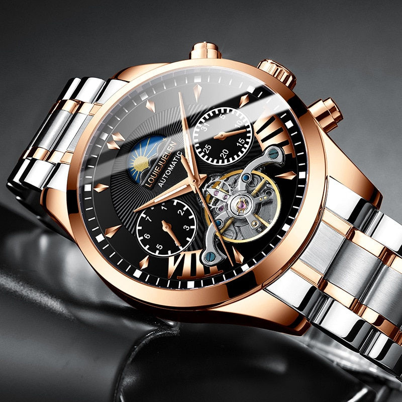2021 New Men's Mechanical Sports Watch Mechanical Watch Men's Watch Fashion Luminous Watch Source Wholesale Factory