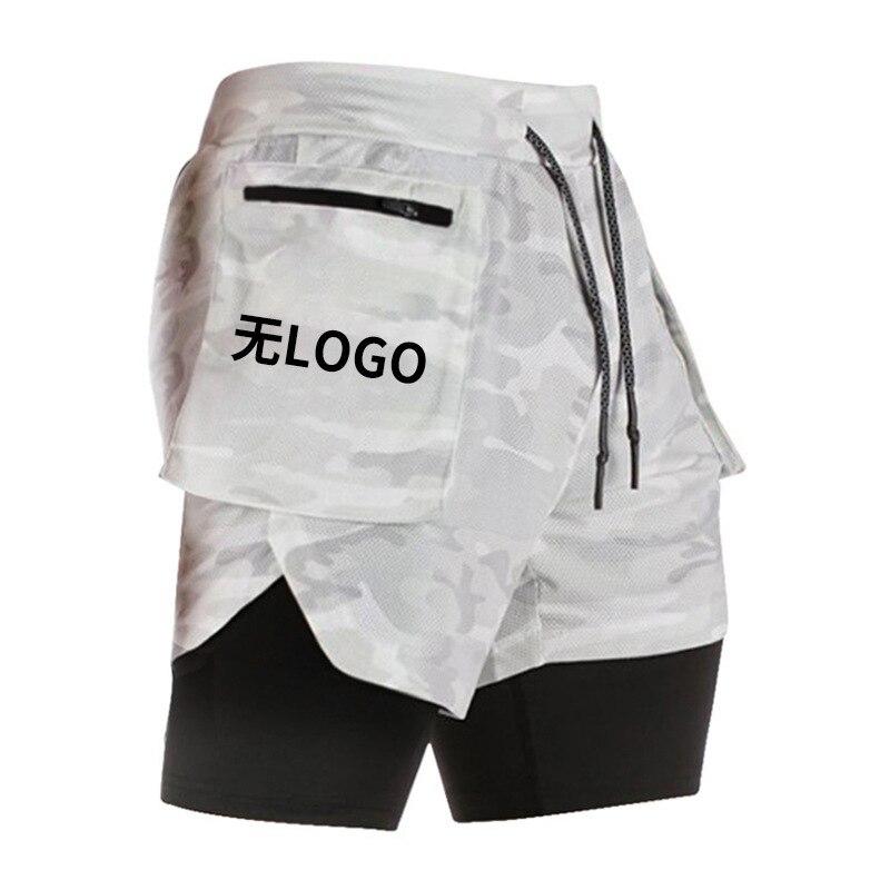 штаны брюки штаны мужские Шорты мужские двухслойные прямые, быстросохнущие камуфляжные штаны, свободные спортивные тренировочные, с неско...