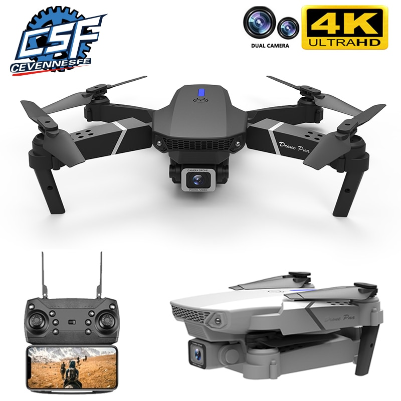 2021 NEW E525 drone 4k 1080P HD wide-angle dual camera WIFI FPV positioning height keep Foldable RC Helicopter Dron Toy Gift