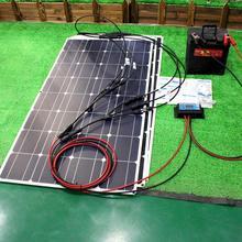 panel solar flexible Kit  de 12v 100w 200w 300w paneles solares con controlador solar para barco, coche, RV y cargador de batería