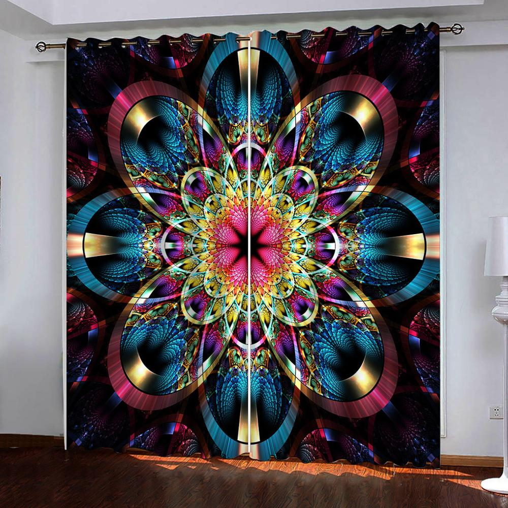 Cortinas para sala de estar dormitorio ventana 3D cortina de moda cortinas opacas cortinas estéreo coloridas