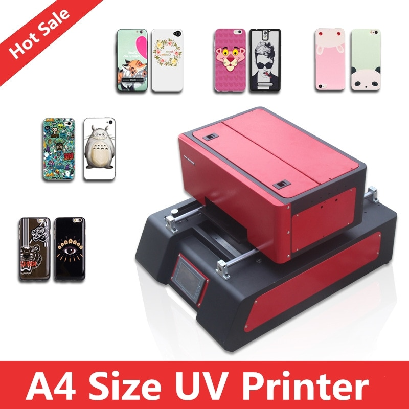 High Speed Multicolor Smart A4 Digital Compact Size Mini UV flatbed Printer For Plastic, Acrylic, Phonecase,T-shirt,Glass etc