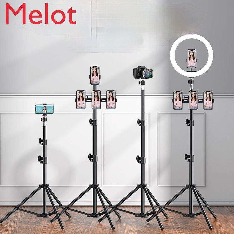 الراقية الفاخرة حامل هاتف المحمول لايف تدفق المعدات متعددة الوظائف ترايبود سطح المكتب صور ملء ضوء Selfie عصا