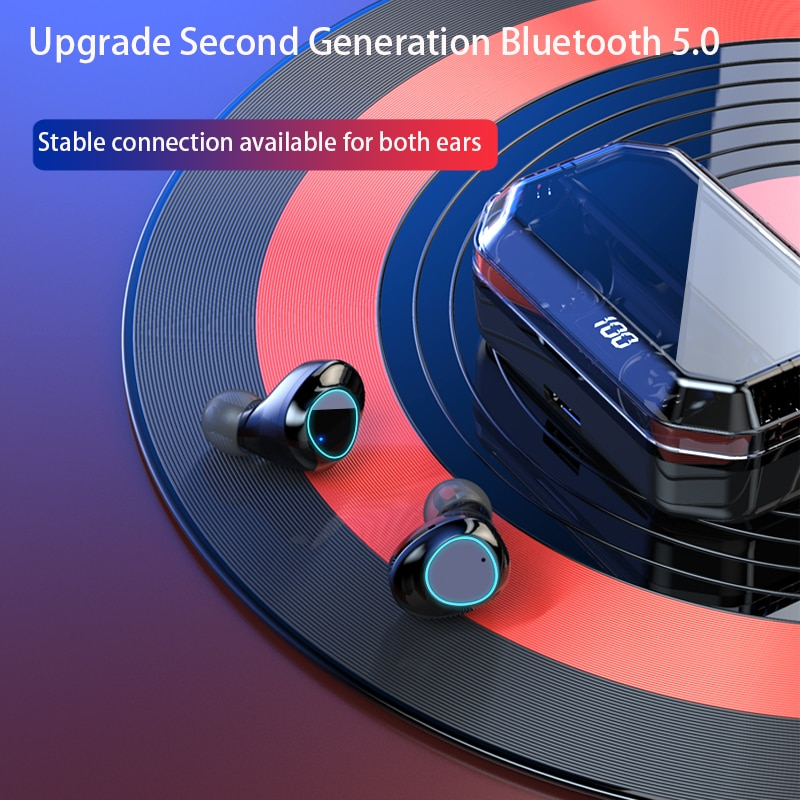 TANOLD Wireless Bluetooth Earphones TWS 5.0 HIFI LED Display Noise Cancelling IPX7 Waterproof  With 6000mAh Charging Box G03 enlarge