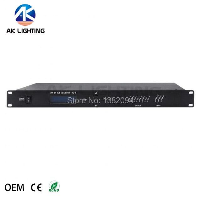 1pc Artnet to Dmx Controller 8 Port Converter Output 8x512 4096 Channels For Satge Dj Light Contro
