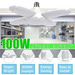 Iluminação industrial brilhante super 100w e27 conduziu a luz 5400lm da garagem do fã AC85-265V 2835 conduziu a lâmpada industrial alta da baía para a oficina