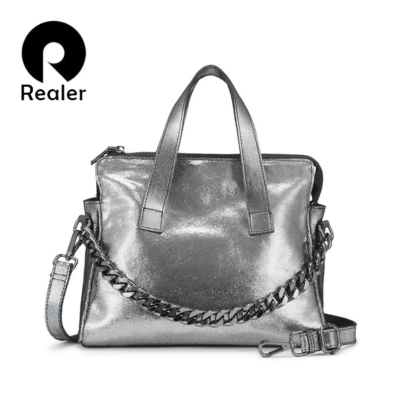 Realer genuine leather bag woman handbags female shoulder bag crossbody bags high quality leather totes for women messenger bag