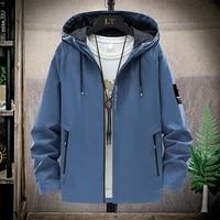 2021 spring and summer new high mountain jacket mens street windbreaker hoodie zipper thin jacket mens casual jacket 5xl