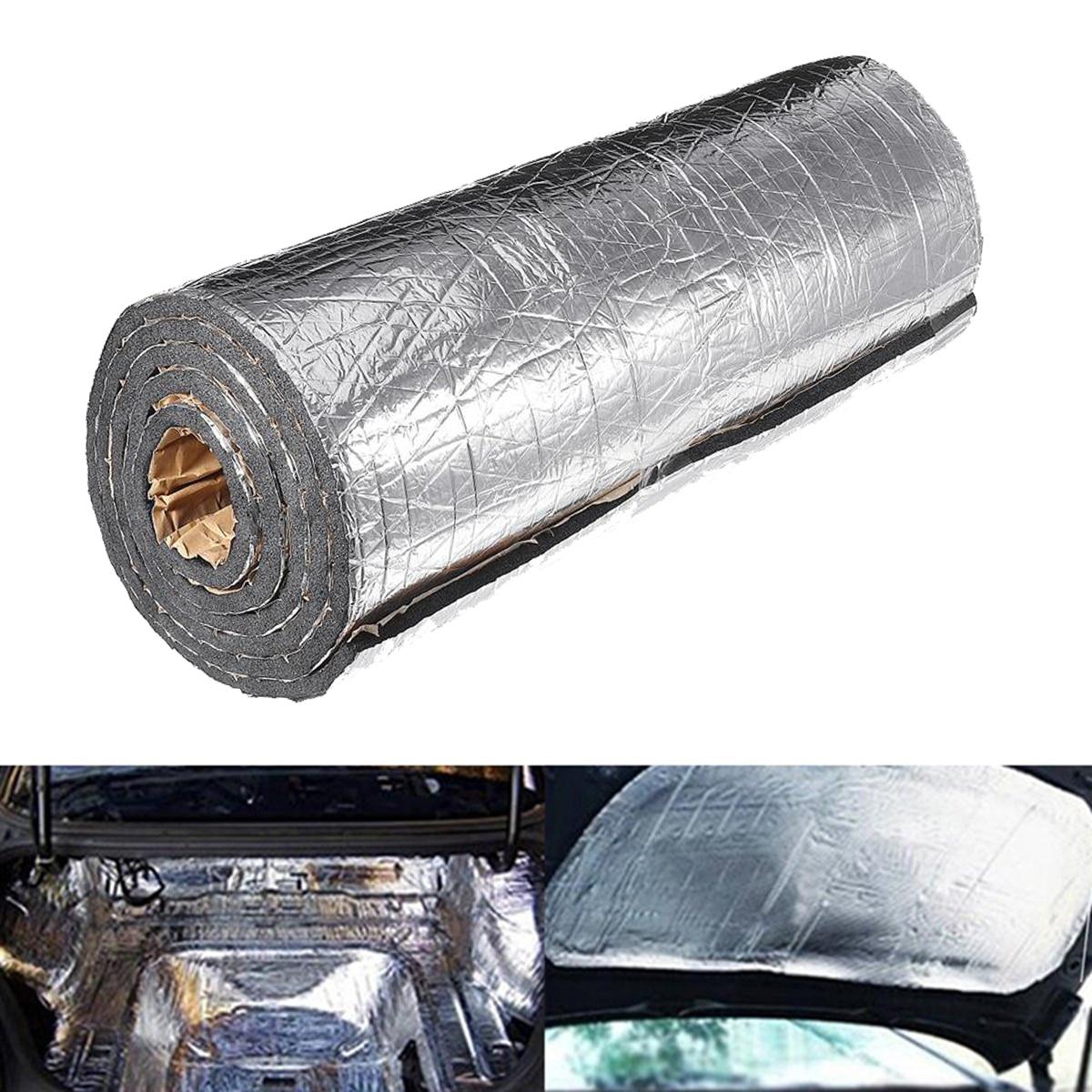 سجادة عازلة للضوضاء من الصوف للسيارة والشاحنة ، 200 سنتيمتر × 50 سنتيمتر ، 7 مللي متر/10 مللي متر عازل للصوت والحرارة