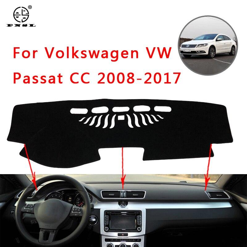 PNSL, cubierta para tablero de automóvil, alfombrilla para tablero, alfombrilla para tablero para Volkswagen Passat CC 2008 ~ 2017, bloque solar antideslizante, anti-uv, para mantener la guerra