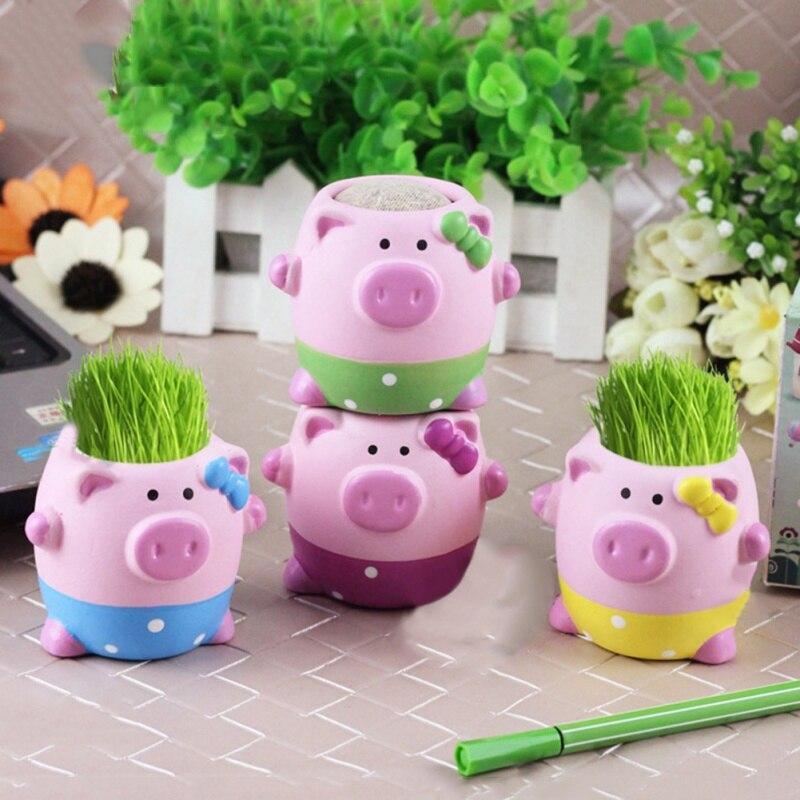 Año Nuevo Kawaii pequeños animales florero de cerámica cerdo elefante erizo plantador en venta maceta de plantas y flores suculentas lindas