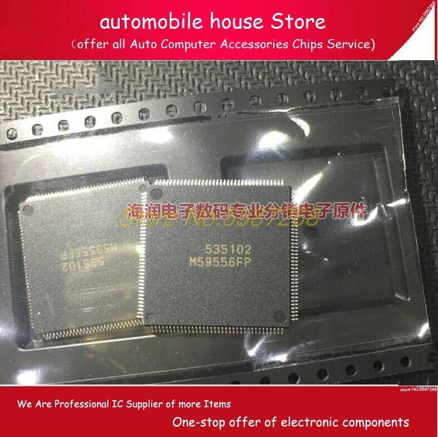 5 pièces M59556FP M59556 TQFP144 carte dordinateur de voiture IC corps carte dordinateur circuit intégré pour Hitachi Nissan voiture puces IC