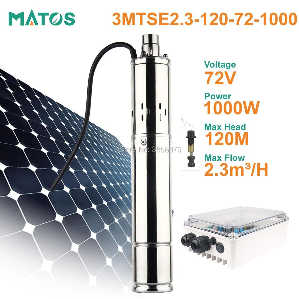 max head 120m 24v 36v 48v 72v dc brushless stainless steel screw solar power submersible water pumping machine