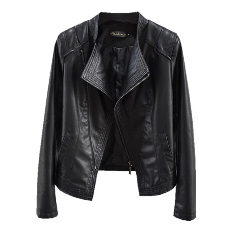 Демисезонная женская кожаная куртка, новинка 2021, одежда, приталенная мотоциклетная куртка из искусственной кожи, женская короткая модная в...