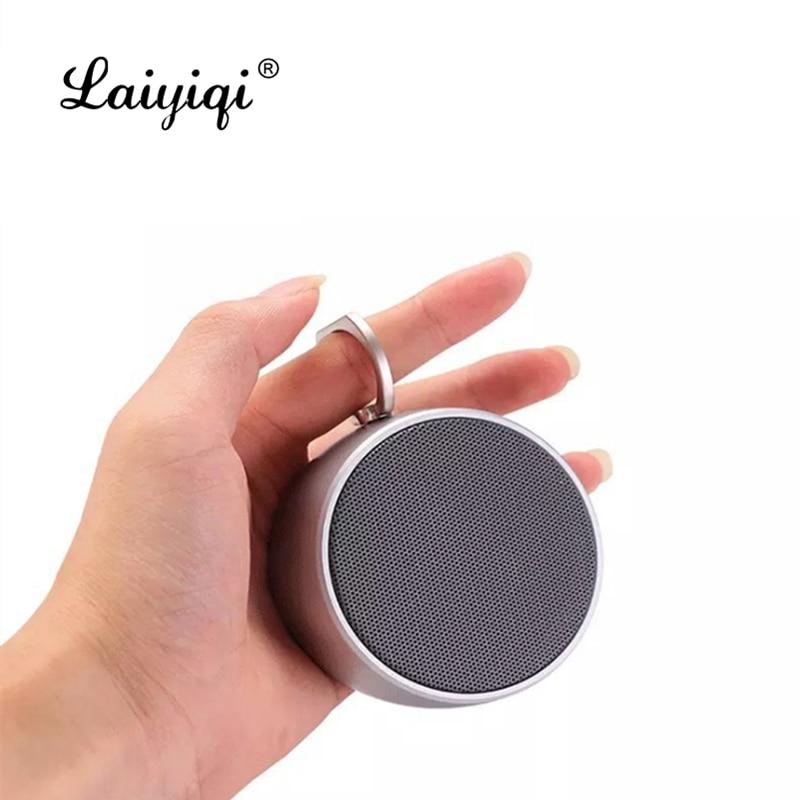 Laiyiqi-altavoz Bluetooth impermeable con textura de Metal, mini radio con gancho de...