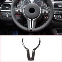 for bmw f80 m3 f82 f83 m4 f10 m5 f06 f12 f13 m6 f15 x5m f16 x6 real carbon fiber car steering wheel decoration cover trim frame