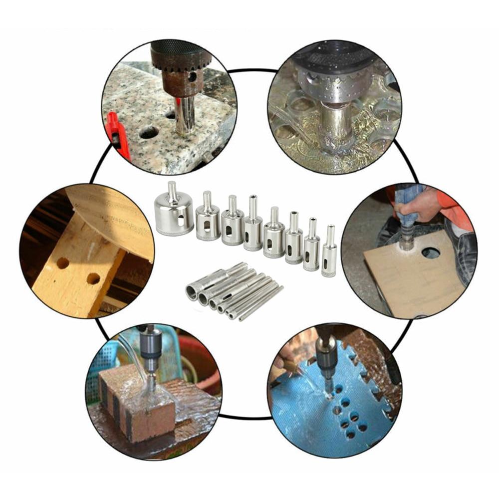 15 unids/set 3mm-42mm sierra de diamante brocas cortador herramientas eléctricas para cerámica