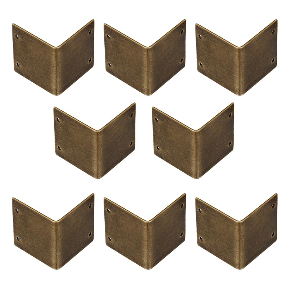 Tiazza 8 قطعة النحاس النقي 90 ° زاوية الحق الزاوية حامي الزاوية هدفين Camphorwood مربع الزاوية رمز العتيقة حافة غطاء الأجهزة