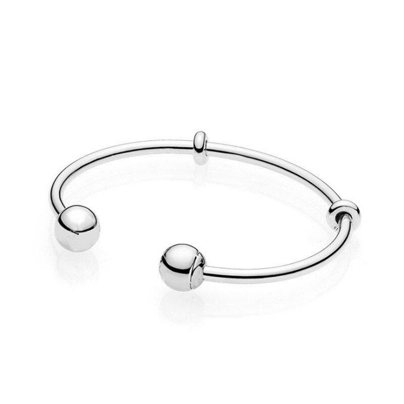 Aberto pan aberto pulseiras pulseira caber pandora pulseira momentos moda feminina talão charme europa diy jóias pulseras mujer moda