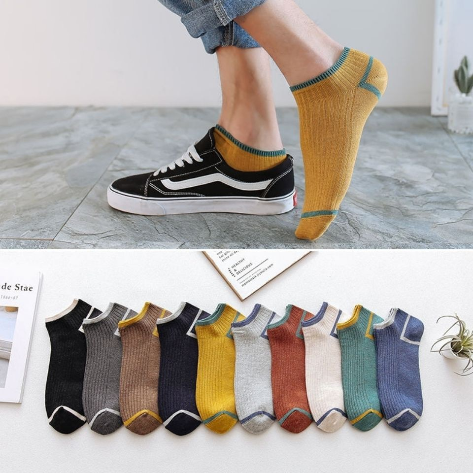 10 Pairs Sports Short Socks for Men Invisible Fashion Summer Spring Breathable Soft Cotton Elastic Casual Business Male Socks summer invisible socks hemp bamboo short breathable ankle toe happy funny men s sports business white stripes cotton harajuku
