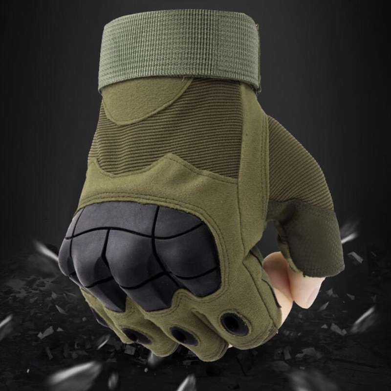 NEW Outdoor Tactical Fingerless Protective Gloves Military Army Shooting Hiking Hunting Cycling Gym Riding Half Finger Gloves