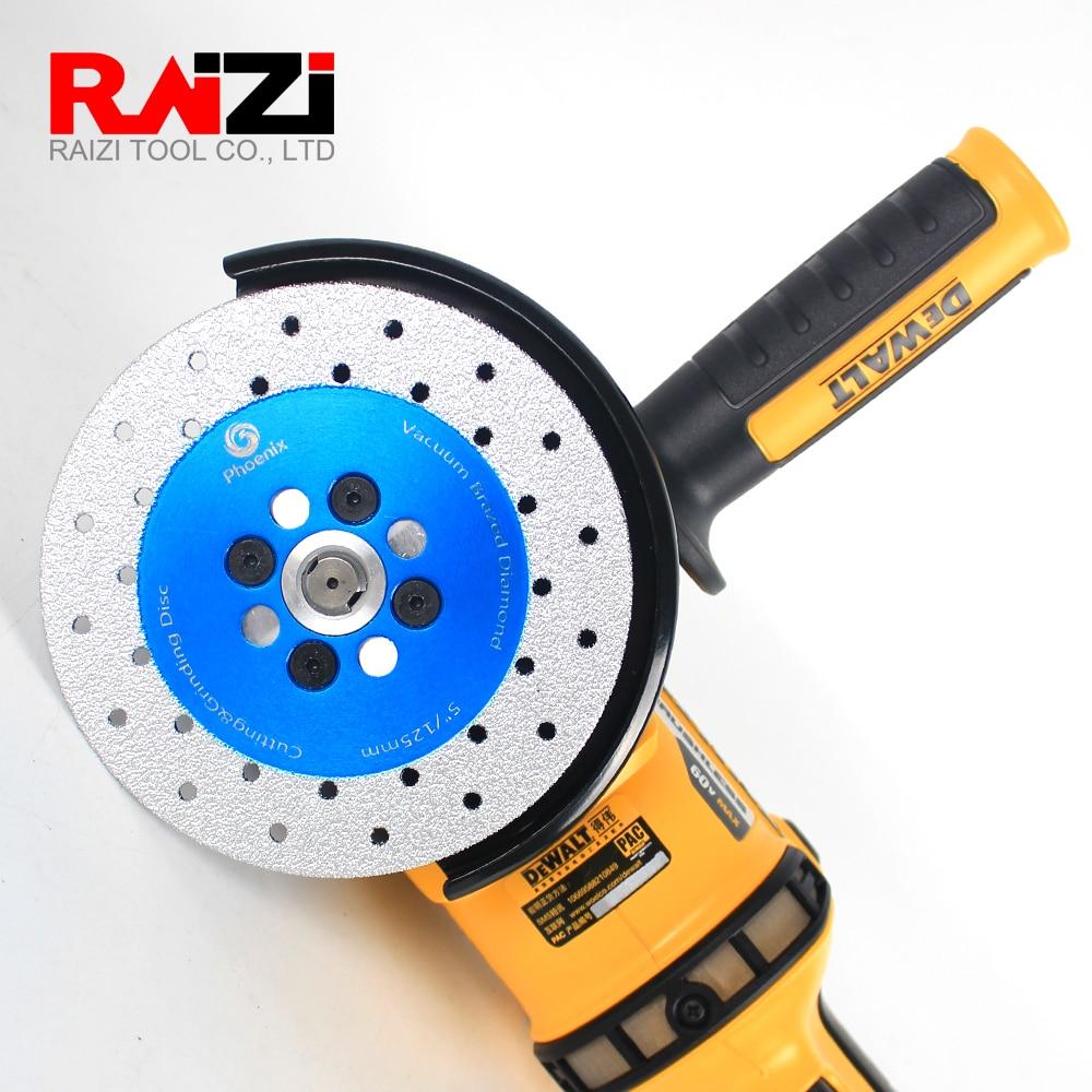 Raizi 1 Pc Best Diamond Cutting&Grinding Disc Wheel For Stone 100/115/125 mm Double Sided Vacuum Brazed Diamond Saw Blade
