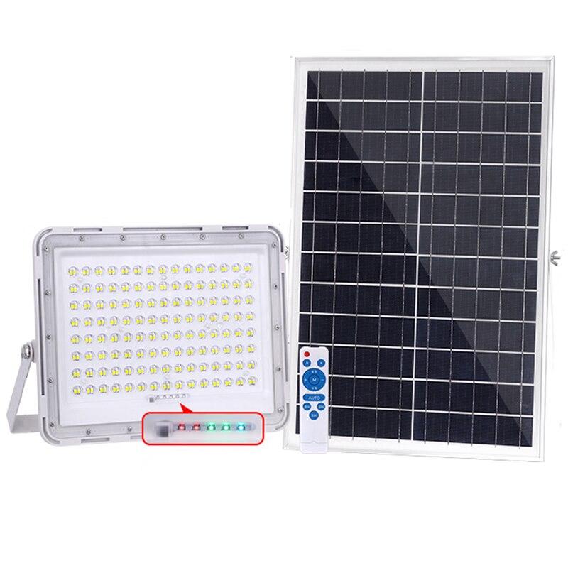 Luz solar led para exteriores, lámpara solar con sensor de foco para...