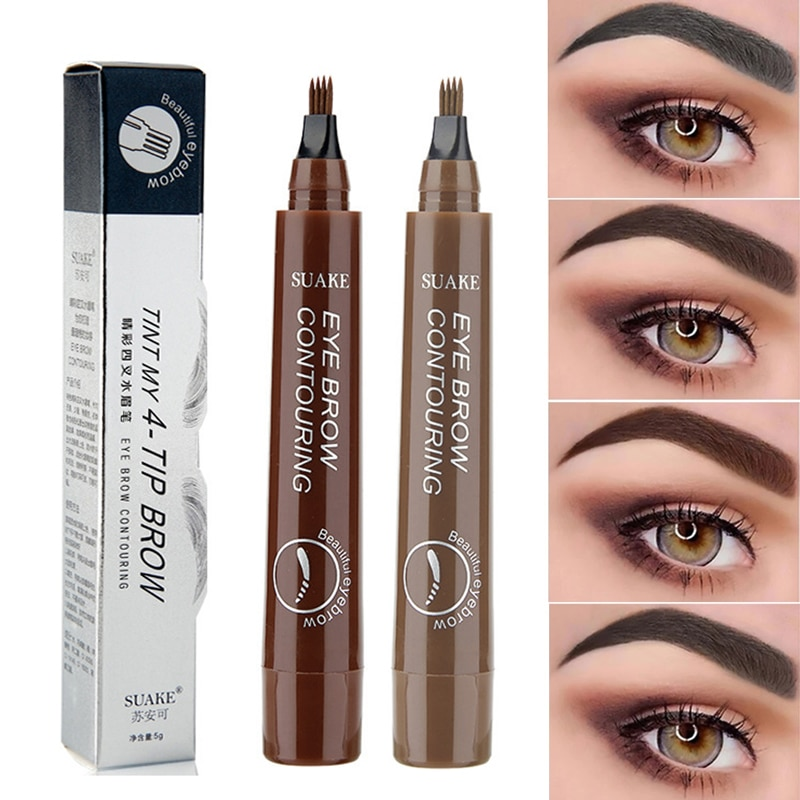 Waterproof Natural Eyebrow Pencil Eyebrow Pen Brown / Black Eye Brow Tint Eyebrow Pen Long Lasting Beauty Eye Makeup Tools недорого