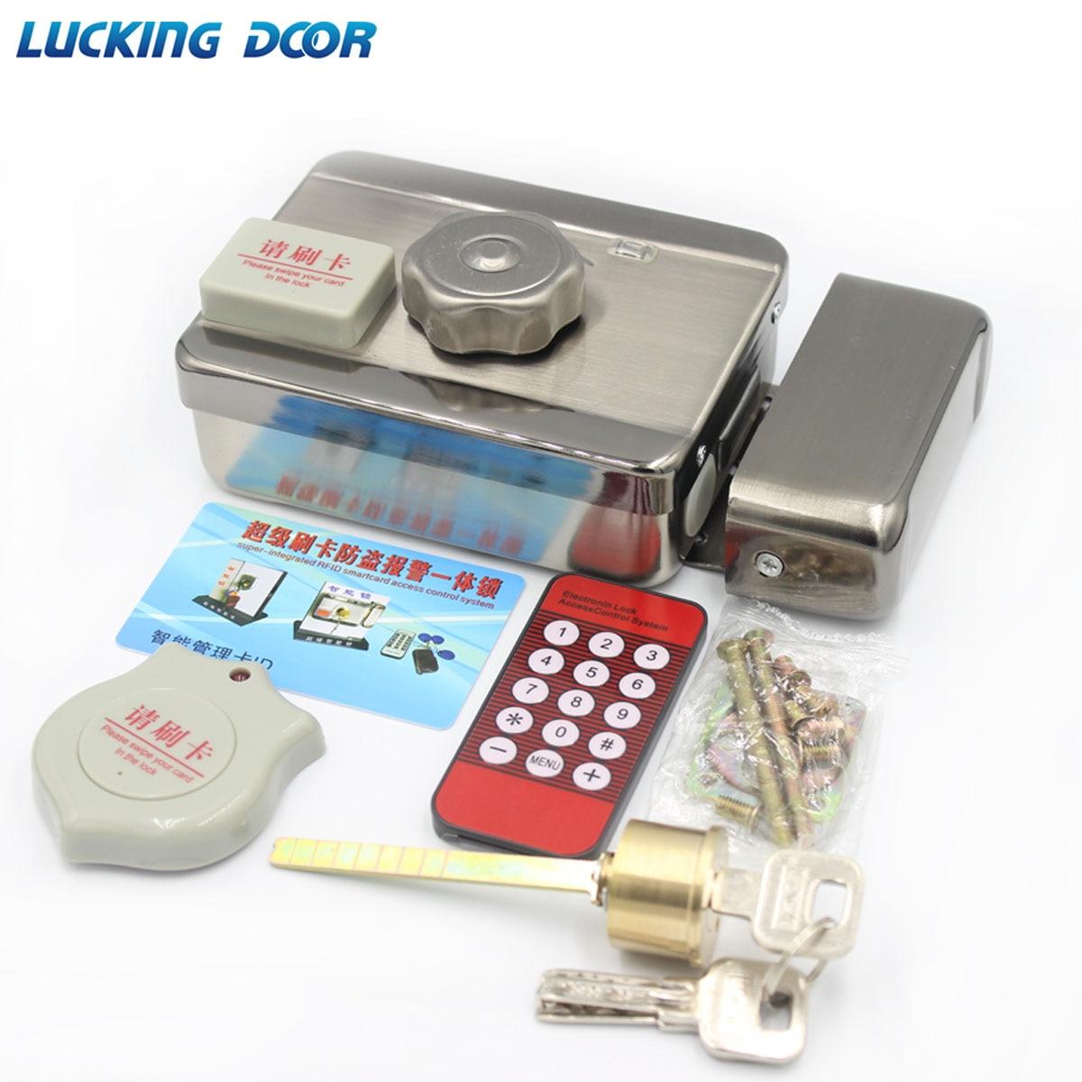 قفل باب إلكتروني ذكي يعمل بتقنية RFID ، ونظام التحكم في الوصول إلى الباب بالحث الكهربائي ، و 12 فولت تيار مستمر