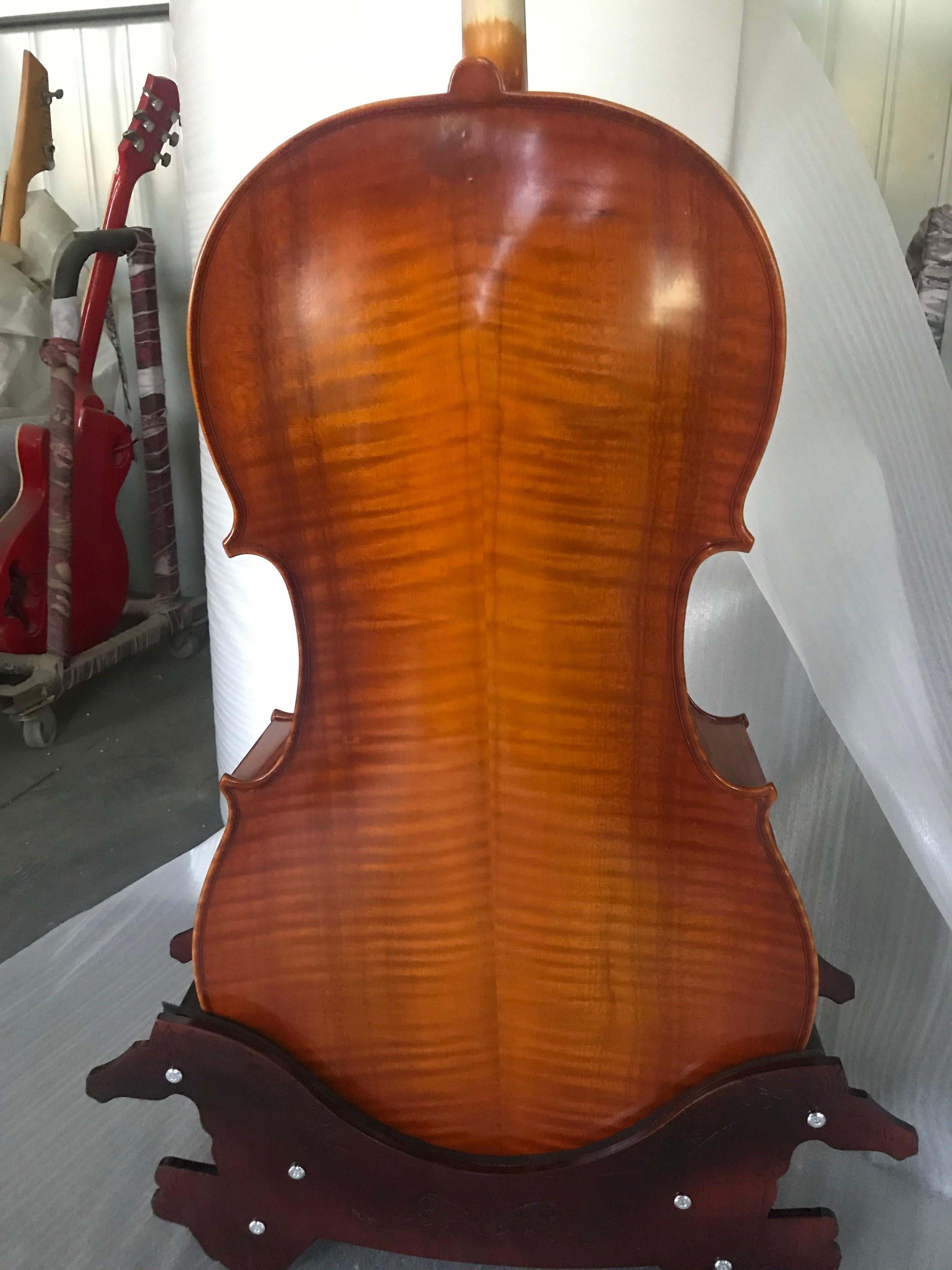 100% تشيلو يدوي الصنع 3/4 خشب متين سيلو أداة مربوطة محترف فيولونسيل صوت ضخم وقوي