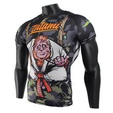 MMA singe collants tigre Muay Thai géométrique maillot de boxe rashguard jiu jitsu roi boxe muay thai t-shirt mma t-shirt sauna