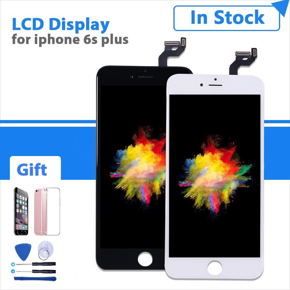 AAA + + + Pantalla de calidad para iphone 6s plus 6sp A1634 A1687 A1699 lcd con 3D force touch Montaje del digitalizador de pantalla de reemplazo