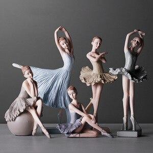 Ballerina Statues Desktop Ornament Plastic Dancing Girl Crafts Dancer Ballet Figurines for Home Decor Birthday Christmas Gift