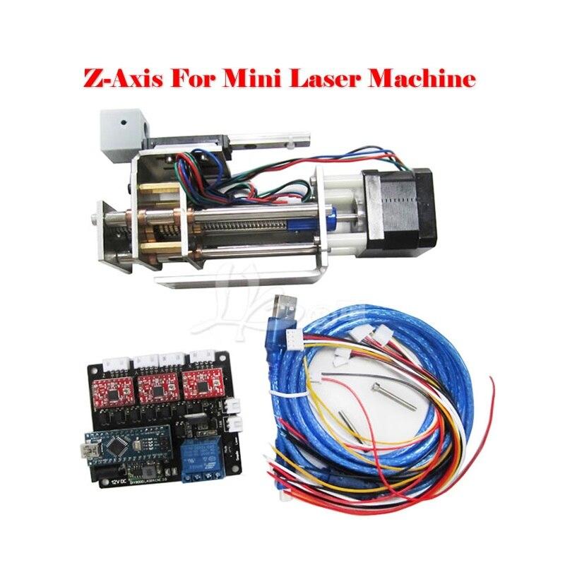 DIY plotter suite LY DPS-01 máquina de grabado láser convertir a 3 ejes CNC modelo DIY Z axis slide suite de plataforma con abrazadera de pluma