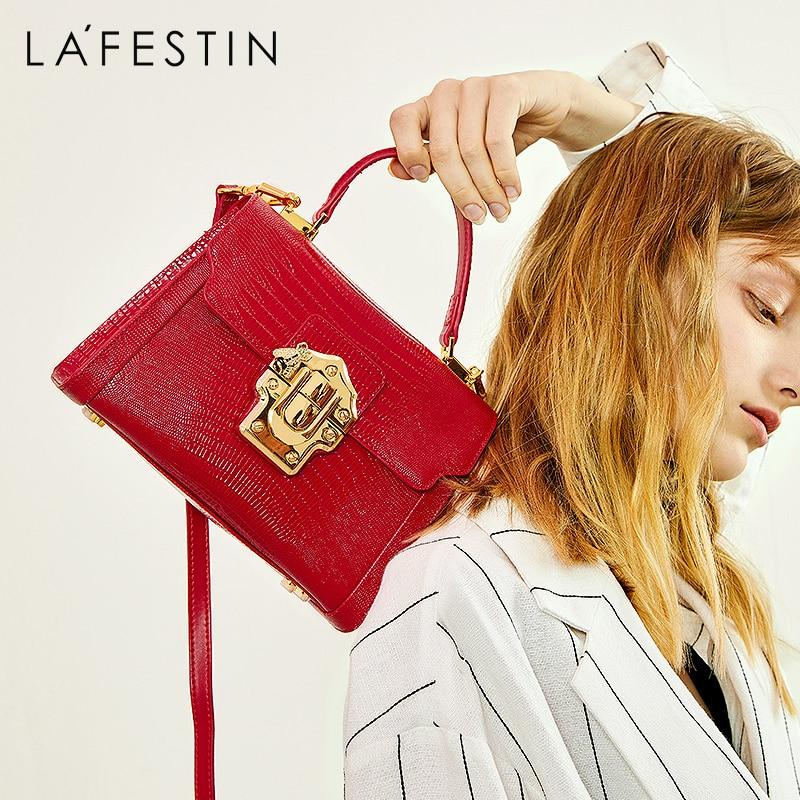 LA FESTIN 2021 New Women Serpentine Messenger Luxuury Leather Handbag Fashion Classic Crossbody One-
