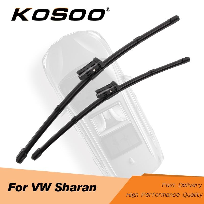 Kosovo para volkswagen sharan mk2/mk3 modelo ano de 2002 a 2018 ajuste lado pino braço/botão braço lâminas de limpador automático estilo