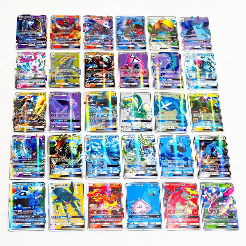 60/100/120/200 Pcs GX EX MEGA Trading Cards Game Best Selling Shining Vmax Pokemones Battle Carte Children Toy