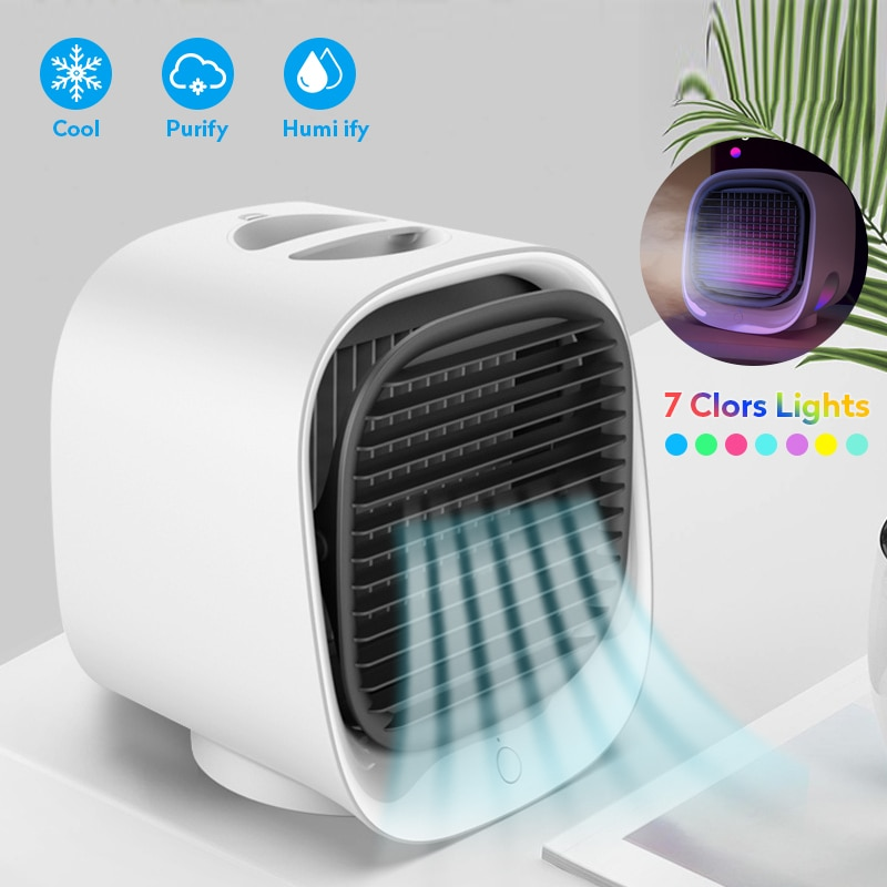Mini Portable Air Cooler Fan USB Cooling Fan Air Conditioner...