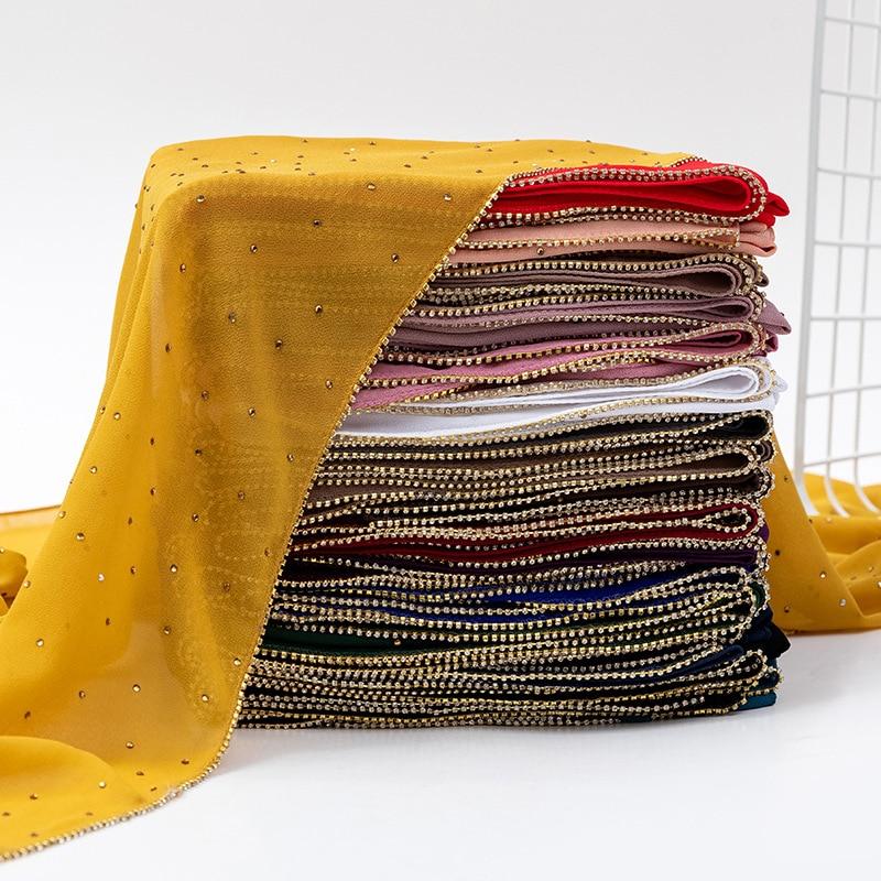 Alta calidad Bufanda De gasa De Mujer De Color puro Bufanda con...