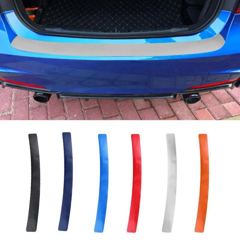 1 stücke Universal Auto Tür Sill Carbon Faser Aufkleber Hinten Schutz Streifen Anti Kick Scratch Schutz Stamm Pedal Film Schutz pad