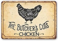 vintage style tin sign the butchers cut chicken art poster animal farm wall decoration bar metal sign 8x12 es