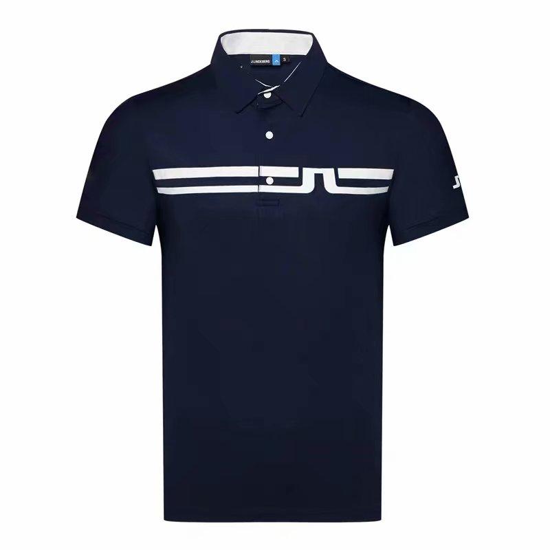 الصيف الجديدة قصيرة الأكمام الغولف T قميص 4 ألوان JL الرياضية الرجال الملابس في الهواء الطلق الترفيه الرياضة الغولف قميص S-XXL في اختيار الشحن