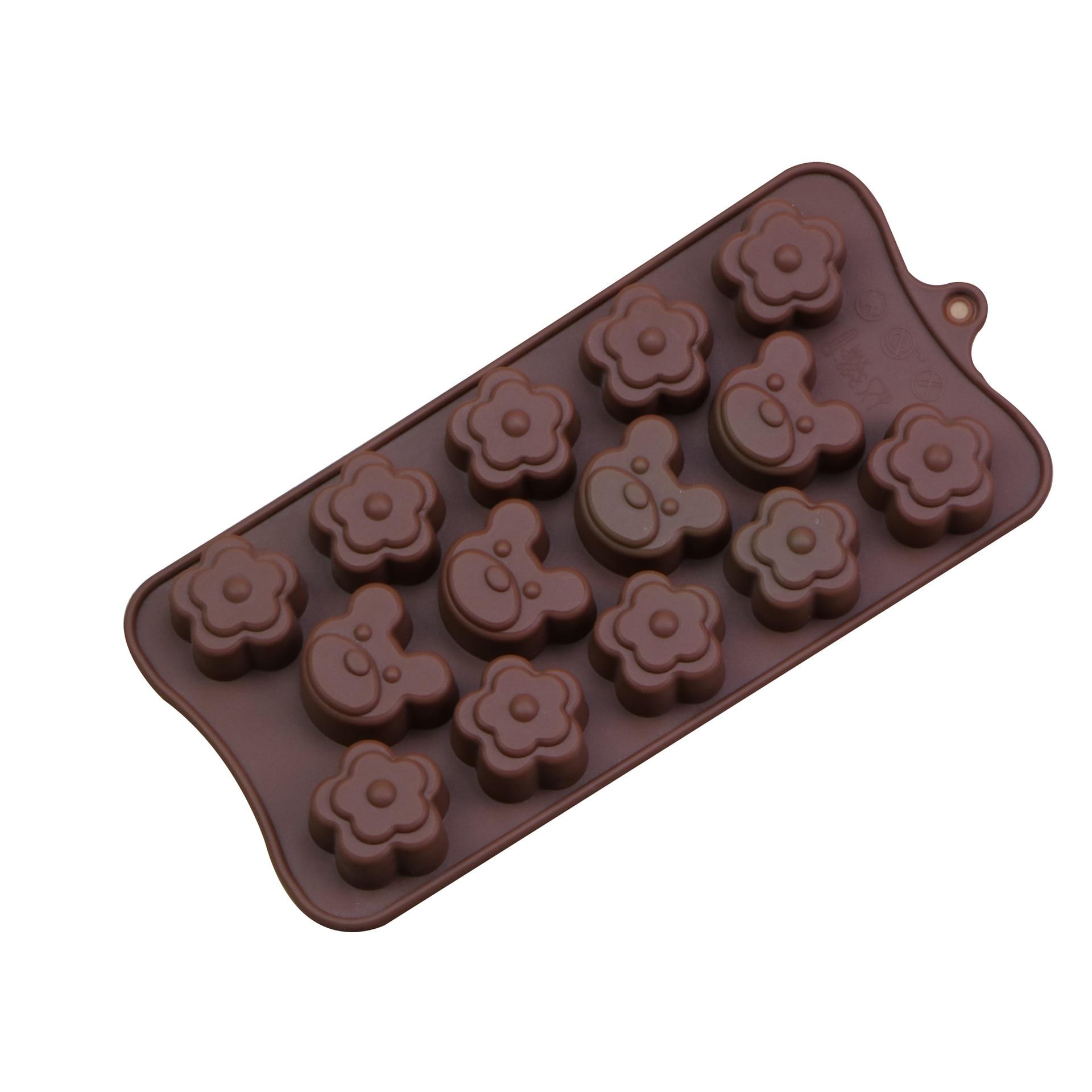 Molde de Chocolate DIY, molde de pan tostado de oso de dibujos animados, molde de gelatina o pudin, molde para postres, cubo de hielo, molde para Mousse, molde de silicona para pastel, herramienta para hornear