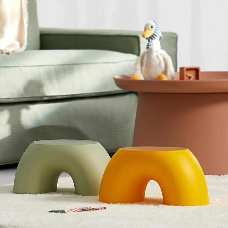 Детское Радужное кресло, детский стул, домашние украшения, гостиная, ванная, детская мебель, удобная утолщенная прочная