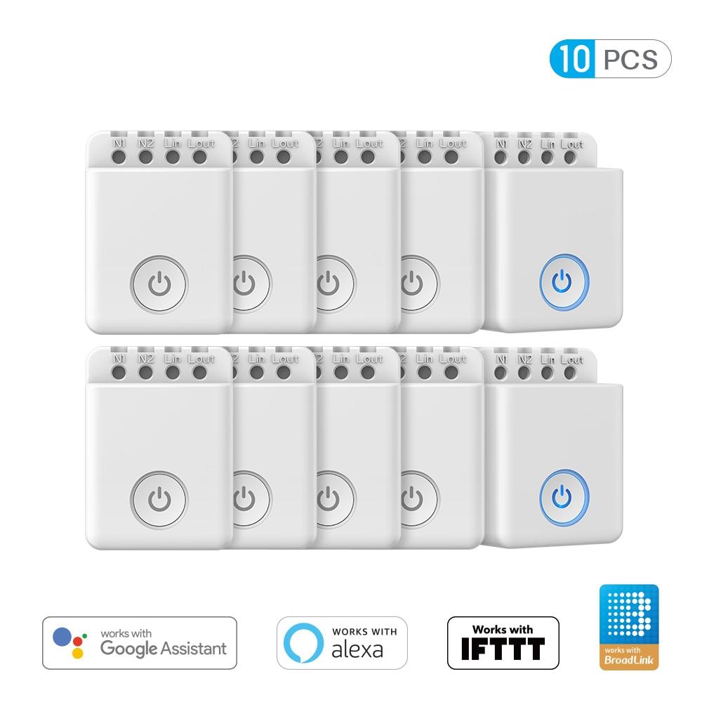 Broadlink bestcon mcb1 interruptor de controle, interruptor para automação residencial, sem fio, para ios e android 1/2/3/4/5/6/8/10-pacote