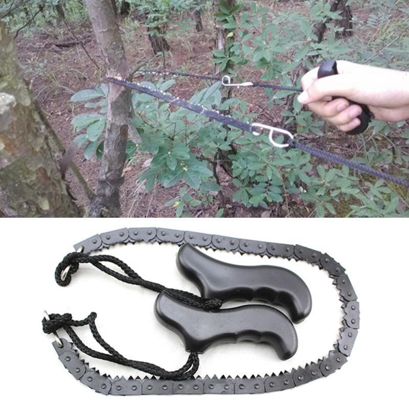 Sierra de alambre para supervivencia de manganeso de alta resistencia para carpintería, 480mm (18,9), herramienta de pesca para campamento y caza al aire libre, cortador de madera para bosque