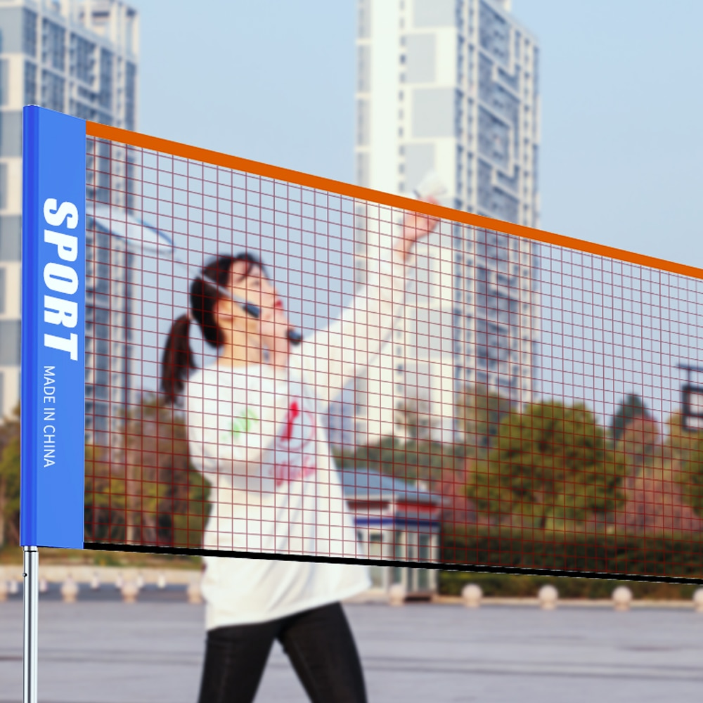 Rede portátil de badminton padrão profissional, 3-6 m, rede para treinamento de badminton, tênis, badminton, rede quadrada de obturador