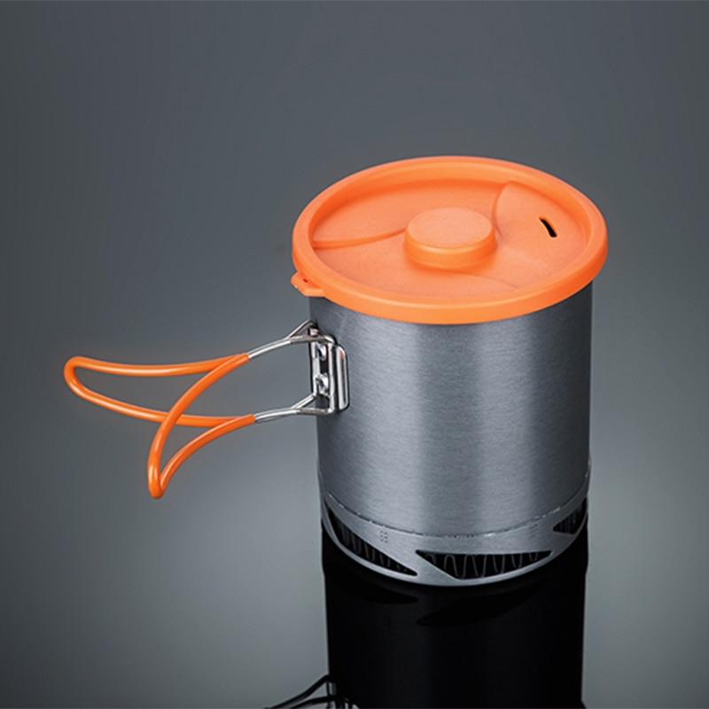 النار القيقب الطبخ وعاء مبادل حراري وعاء للطي التخييم الألومنيوم وعاء غلاية 1L 190g FMC-XK6